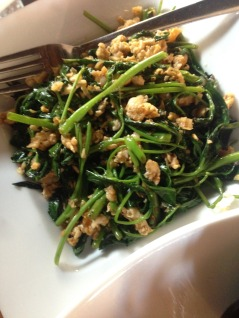 Eggs and Kankun [water spinach] - Ministry of Crab