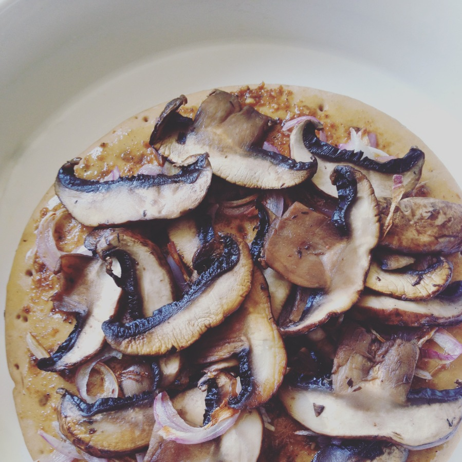Stovetop Portobello MushroomPizza